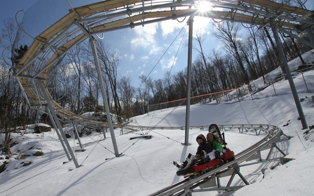 Rip down the mountainside on Okemo's Timber Ripper Mountain Coaster. Photo courtesy of Okemo Mountain Resort.