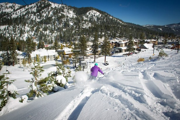 Squaw Valley opened for one day last month when over 2 feet of snow showed up from an early season storm. This next storm is looking to add to that base.  - ©Jeff Engerbretson