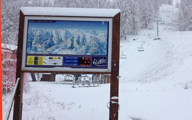 Premiers flocons de neige de la saison à Val d'Allos - ©Office de Tourisme de Val d'Allos
