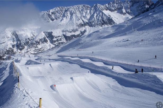 Le snowpark des Grand Montets à Chamonix - ©Guilhem Machenaud/Chamonix