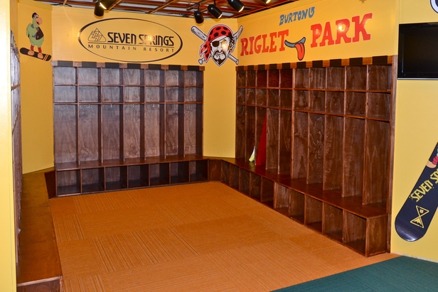 The Pittsburgh Pirates locker room at the new Pirates Riglet Park. Photo Courtesy of Seven Springs.