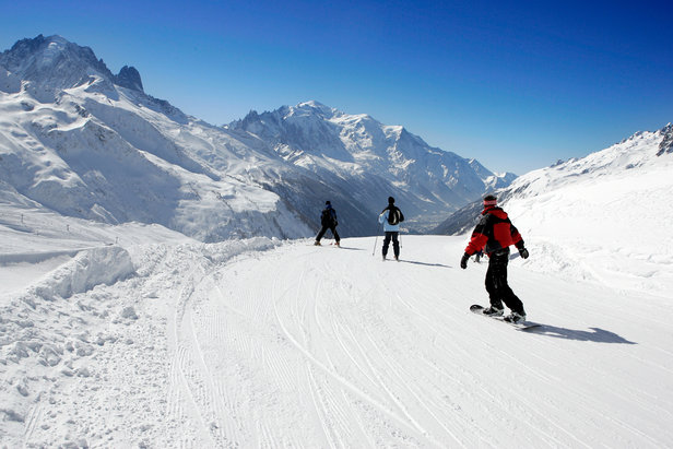 Skiing at Chamonix on Balme sector