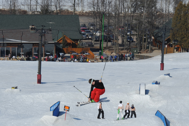 The terrain parks are great at Granite Peak Ski Area.