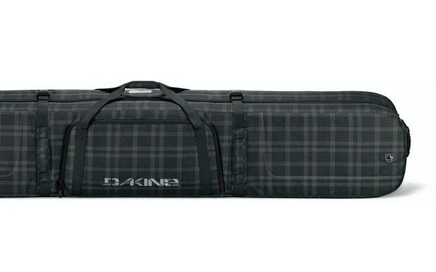 Dakine Concourse Double Ski Bag is a burly, heavy-duty ski bag that can carry two pairs of skis, boots, poles and clothing.