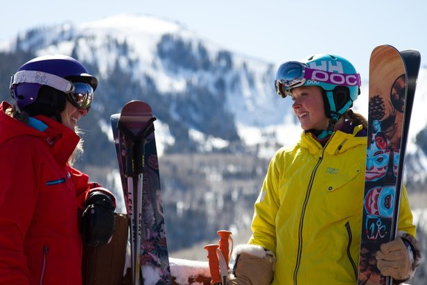 Hanging out on the deck at Canyons in Park City, Utah. - ©Liam Doran
