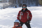 Wild Mountain MN ski school - Child and instructor at