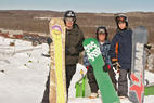 Wild Mountain MN boarders - A trio of snowboarders