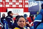 Doppelsieg der Italienerinnen im Riesenslalom - Anja Pärson jubelt über Kristallkugel - ©G. Löffelholz / XnX GmbH