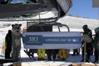 Opening day at Ski Granby Ranch. - Opening day at Ski