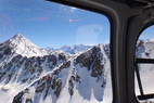 View form the chopper in Valle Nevado. - View form the chopper