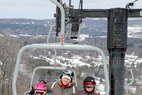 Family riding at the Granite Peak Ski Area. - Family riding at the