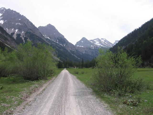 Auf das Karwendelhaus