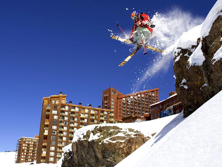 Letní lyžařské středisko Valle Nevado v Chile