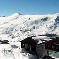 Vue sur le domaine skiable d'altitude de Zermatt (6 juin 2013)