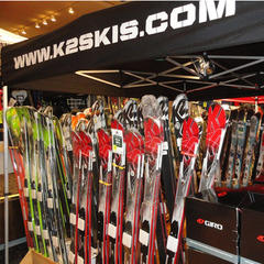 K2 skis on display at the Albany Ski & Snowboard Expo - ©Albany Ski & Snowboard Expo