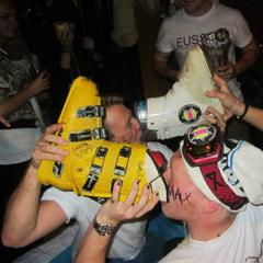 Ski-boot pints at Edinburgh's Fresher Rep - ©Edinburgh Uni