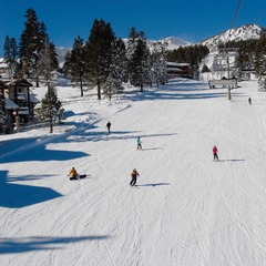 Mammoth Mountain skiers