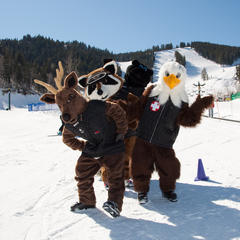 Deer Valley mascots - ©Deer Valley Resort