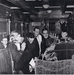 Happy passengers riding the ski train in 1938 - ©Winter Park