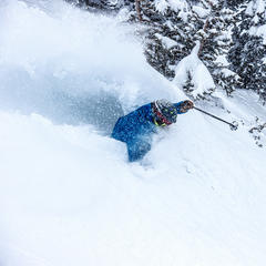Day two, powder skis - © Liam Doran