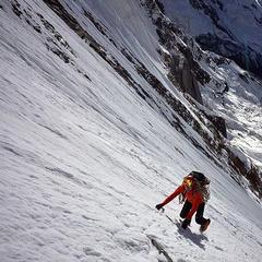Ueli Steck in der Südwand des Annapurna - ©Ueli Steck/Facebook