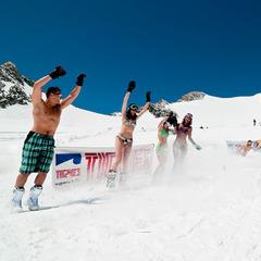 Tignes Bikini Ski On Snow June 09 Group