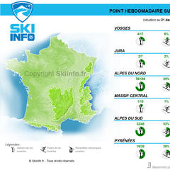 synthese enneigement france 21 decembre 2016 - ©Skiinfo
