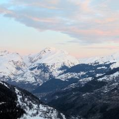 Sainte Foy Tarentaise - As usual, the views are breathtaking, and the snow is great quality.