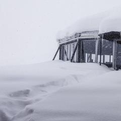 Auf der Zugspitze meldete man am Morgen des 19.4.2017 fast 80cm Neuschnee - ©Facebook Zugspitze