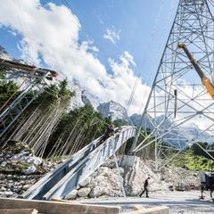 An der Zugspitze wird derzeit die höchste Gondelstütze der Welt gebaut - ©www.zugspitze.de