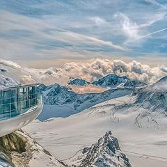 Blick vom höchsten Punkt des Pitztaler Gletschers  - ©Pitztaler Gletscherbahn GmbH & Co KG