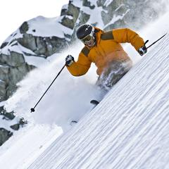 Freeskier Mike Douglas Blackcomb Mountain October 2007