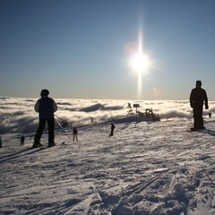 Mt Hood Meadows OR skiers (Grant Myrdal)