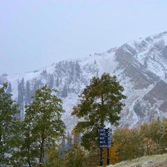 September 25th Snowfall, Park City, Utah