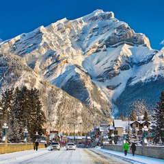 Three ski resorts are easily accessible from downtown Banff - ©SkiBig3