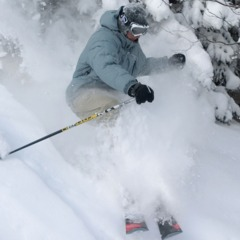 Tree skiing at Burke Mountain Resort. Photo Courtesy of Burke Mountain. 