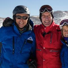 Former U.S. Ski Team Member CJ Mueller and friends. - ©Liam Doran