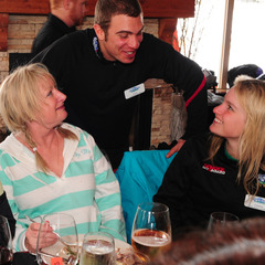 Ladies Day participants share lunch at Big White. Photo by Quick Pics/Big White.