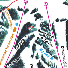 Trail map for Hogadon Ski Area outside Casper, Wyoming. Photo courtesy of Hogadon Ski Area.