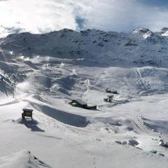 Paysage de début d'hiver à Val Thorens (Sommet Moutière) le 7 novembre 2012