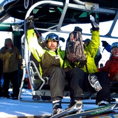 First chair of 2012-2013 season at Brighton Resort