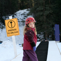 Learning the fundamentals of skiing on the Magic Carpet at Sipapu Resort