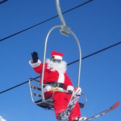 Santa on Chair, Loveland, CO