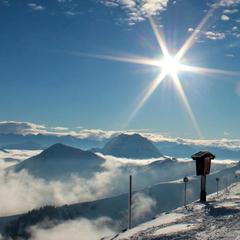 Snow and sunshine in Kitzbuehel. Dec. 1, 2012