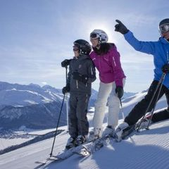 Fun on the slopes in Scuol, Switzerland