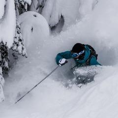 Chris Shalbot deep in Stevens Pass