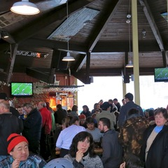 The crowd gathers at The Paul Bunyan Room at Loon Mountain.