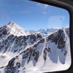 View form the chopper in Valle Nevado.