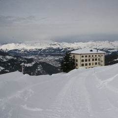 The historic Hotel Weisshorn above St-Luc