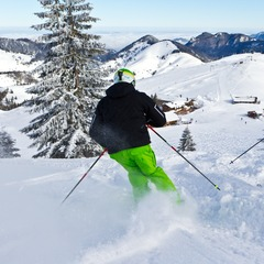 Good snow conditions in Sudelfeld